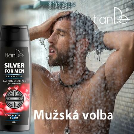 Šampón so striebrom pre mužov